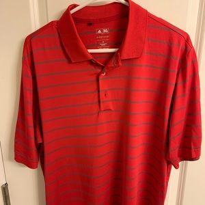 Men's Adidas Golf Polo Red